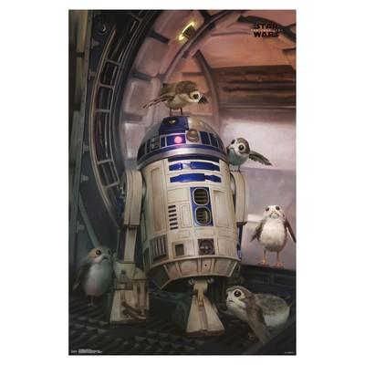 Star Wars: The Last Jedi Droid & Porg Poster 34x22 - Trends International