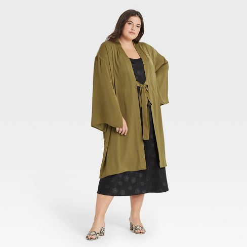 Women's Duster - A New Day™ Olive - image 1 of 2