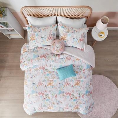 Harper Woodland Animals Cotton Reversible Comforter Set Blush