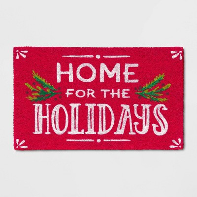 "1'6""X2'6""/18""X30"" Red Home Doormat White - Wondershop™"