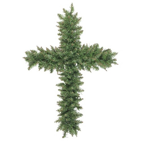 Northlight 22 Unlit Green Pine Artificial Cross Shape With Ground