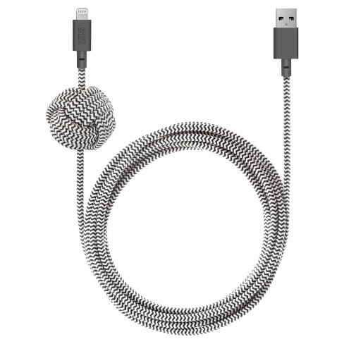 Native Union 10' Lightning Night Charging Cable with Weighted Knot - image 1 of 4