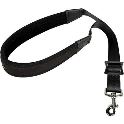 "Protec Protec Padded Neoprene Saxophone Neck Strap with Metal Swivel Snap, Black, 20"" Junior Black Plastic Hook"