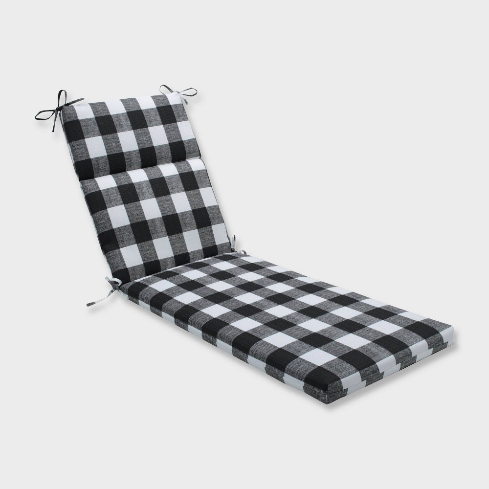 Anderson Chaise Lounge Outdoor Cushion Black - Pillow Perfect