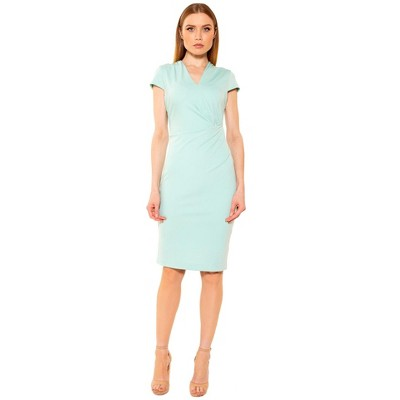Alexia Admor Summer Cap Slv Draped Sheath
