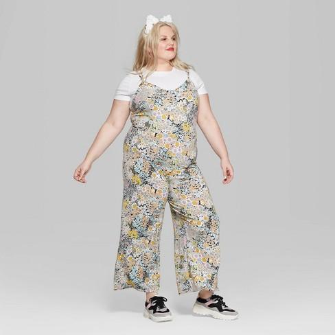 fef7ef7d3676 Women s Plus Size Floral Print Strappy Jumpsuit - Wild Fable™   Target