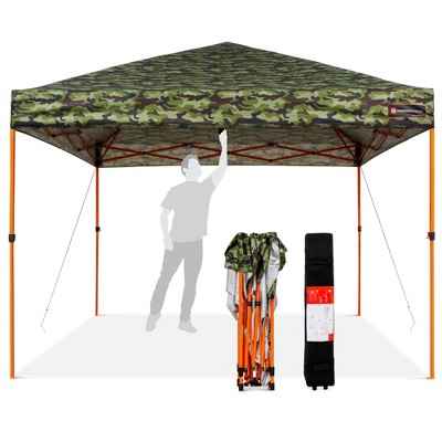 Best Choice Products 10x10ft Easy Setup Pop Up Canopy Instant Portable Tent w/ 1-Button Push, Wheeled Carry Case