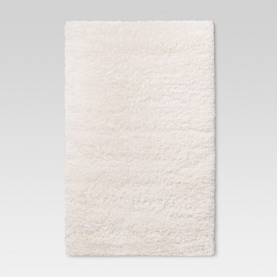 "2'6""X3'10""/30""X46"" Plush Shag Washable Accent Rug Cream - Room Essentials™"