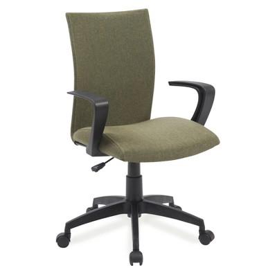 Linen Apostrophe Office Chair Sage Green   Leick Furniture