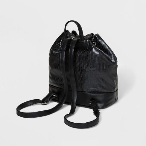 0058f7bfff07 Laser Cut Drawstring Tote Backpack - JoyLab™ Black   Target