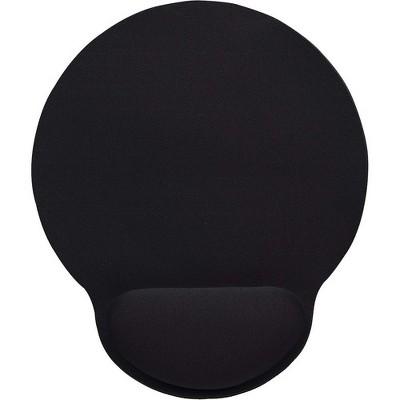 Manhattan Wrist-Rest Gel Mouse Pad, Black - Gel material promotes proper hand and wrist position