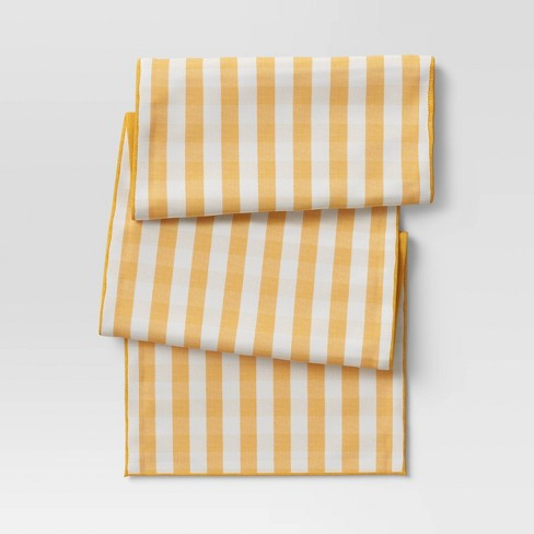 Cotton Gingham Check Table Runner Yellow - Threshold™ - image 1 of 3