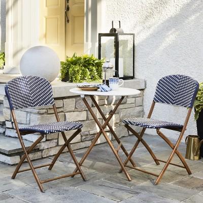 Phenomenal French Caf Wicker Patio Collection Threshold Target Inzonedesignstudio Interior Chair Design Inzonedesignstudiocom