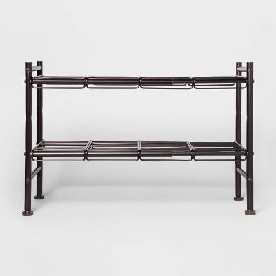 Under the Sink Expandable Storage Shelf Bronze - Threshold™