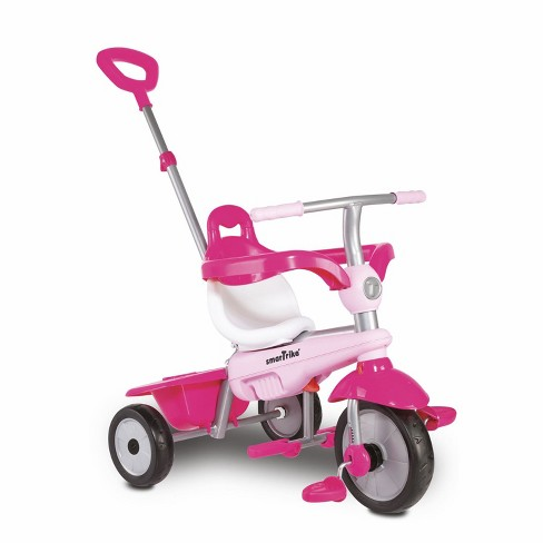 smarTrike Breeze Kids 3 in 1 Tricycle Push Bike, Adjustable Trike Ride On Toy for Baby, Toddler, and Infant Ages 15 Months to 3 Years, Pink - image 1 of 4