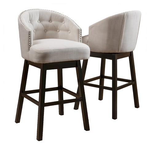 Ogden 30 5 Quot Barstool Beige Set Of 2 Christopher