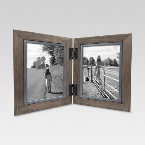 2 Opening Hinged Windowpane Frame 5x7 Coffee Threshold Target