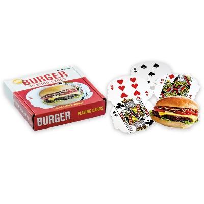 Gamago Hamburger-Shaped Playing Cards | 52 Card Deck + 2 Jokers
