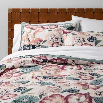 Full/Queen Printed Duvet Set Floral - Opalhouse™