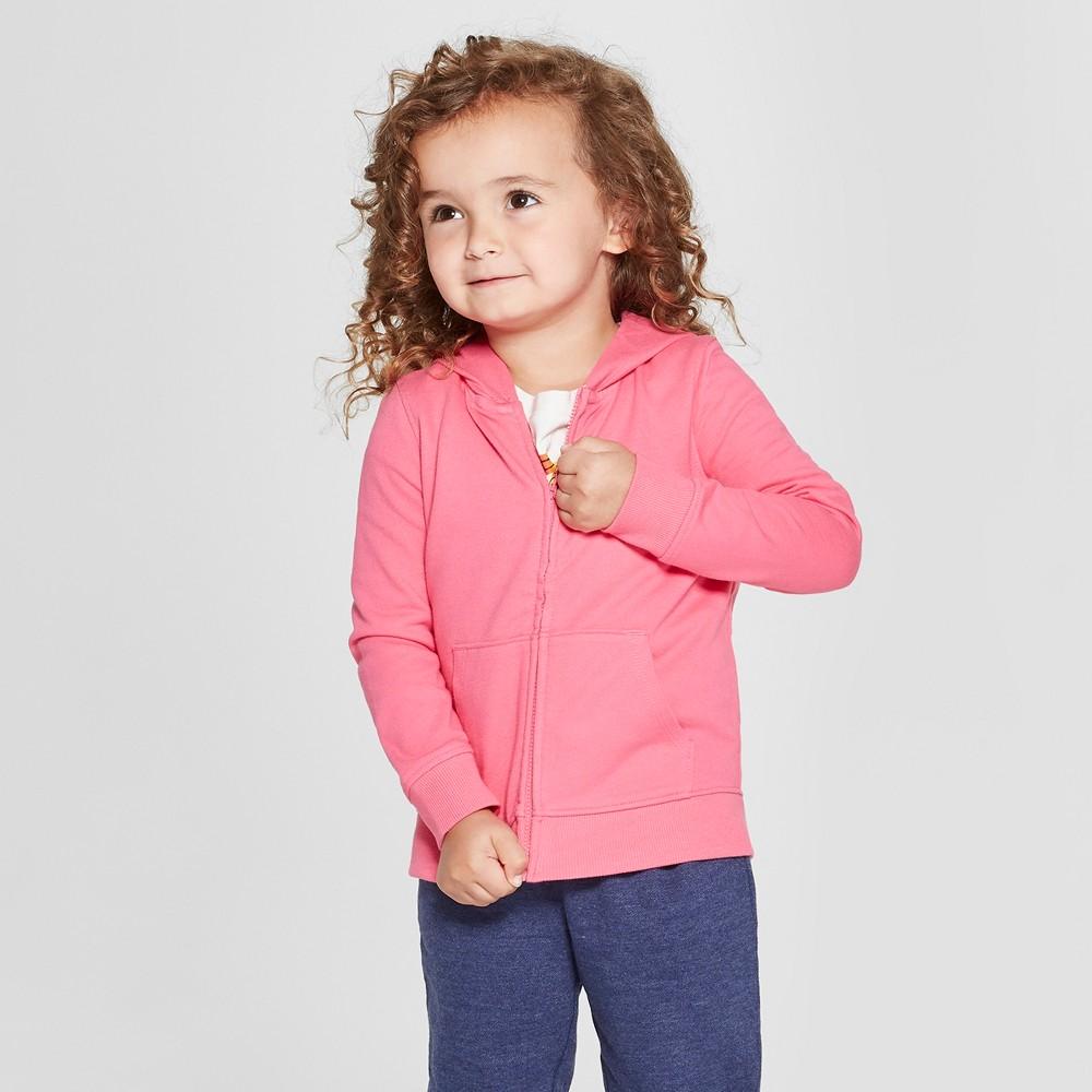 Toddler Girls' Hoodie Sweatshirt - Cat & Jack Pink 5T