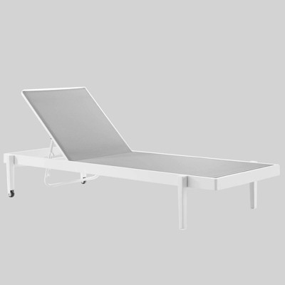 Charleston Outdoor Patio Chaise Lounge Chair White/Gray - Modway