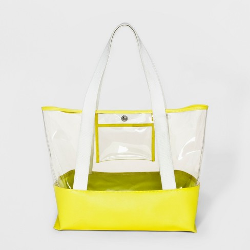 Cesca Joni Tote Handbag - Yellow - image 1 of 3