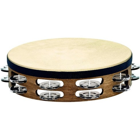 Meinl Headed Wood Tambourine with Double Row Steel Jingles 10 in. Walnut Brown - image 1 of 1