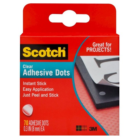 Scotch™ Adhesive Dots, Clear, 0.3 in (8 mm) Each, 70 ct - image 1 of 1