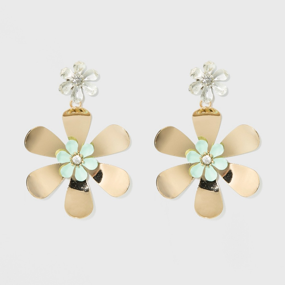 Image of Flowers Earrings - A New Day, Size: Small, Multi-Colored