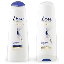 Dove Nutritive Solutions Intensive Repair Twin Pack Shampoo & Conditioner - 24 fl oz