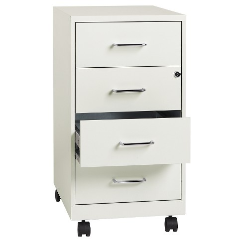 hirsh industries space solutions file cabinet on wheels 4 drawer pearl white target. Black Bedroom Furniture Sets. Home Design Ideas
