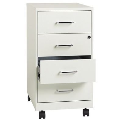Exceptionnel Hirsh Industries® Space Solutions File Cabinet On Wheels, 4 Drawer   Pearl  White