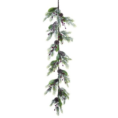 Transpac Artificial 60 in. Green Christmas Holiday Garland