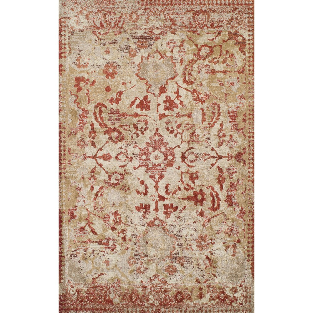 "Image of ""3'3""""X5'3"""" Red Solid Woven Accent Rug - Addison Rugs, Beige"""