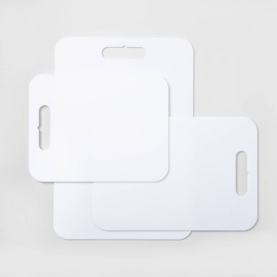 3pc Poly Essentials Cutting Board Set White - Made By Design™
