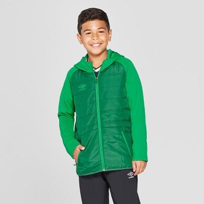 fe51547e06f Umbro Boys' Insulated Full Zip Fleece Jacket – Green XS – Target ...