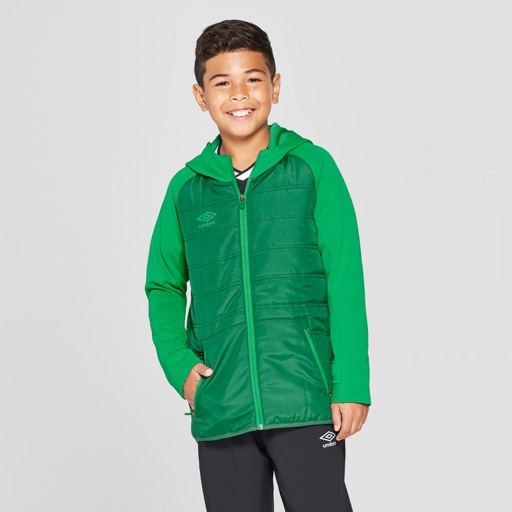 Umbro Boys' Insulated Full Zip Fleece Jacket - Green XS