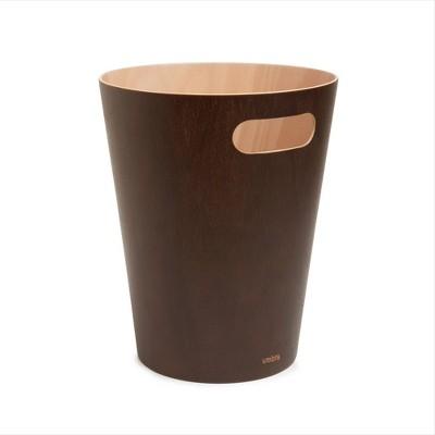 Umbra 2gal Woodrow Indoor Trash Can Brown