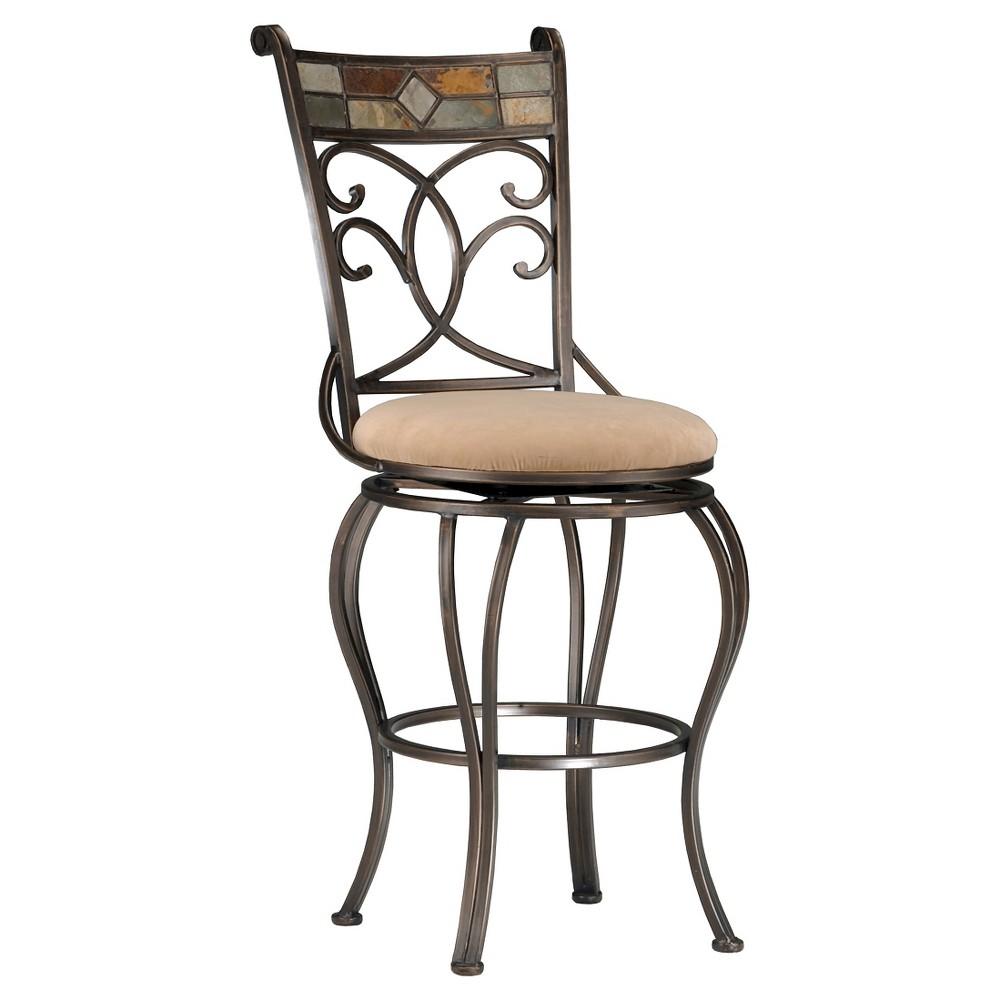 30 Pompeii Swivel Barstool Metal/Black - Hillsdale Furniture