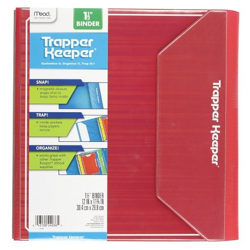 "Mead® Trapper Keeper 1.5"" Binder - Red - image 1 of 6"