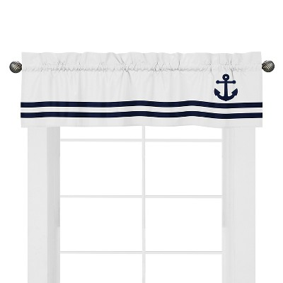 Sweet Jojo Designs Anchors Away Window Valance - Navy