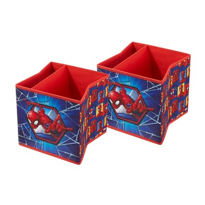 "9"" Set of 2 Spider-Man Soft Storage Bins"