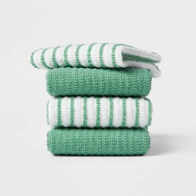 4pk Cotton Dishcloths Green - Room Essentials™