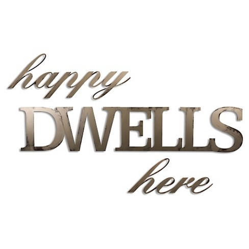 Letter2Word Hand Painted Dwells 3D Wall Sculpture - Nickel - image 1 of 2