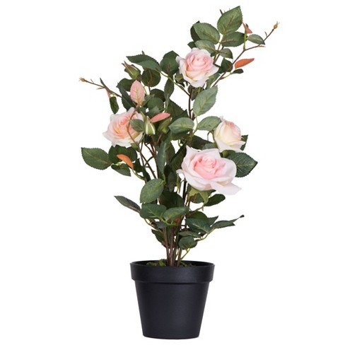Vickerman Artificial Rose Plant in Pot. - image 1 of 4