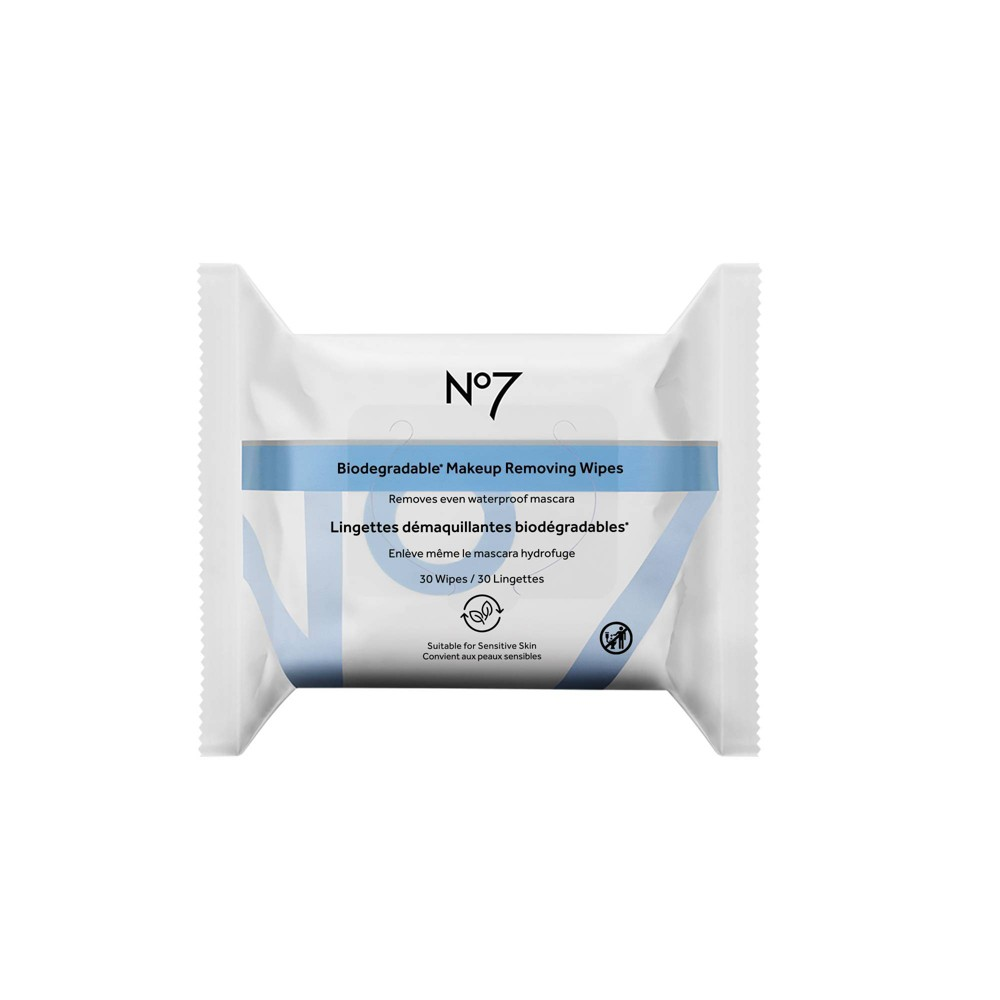 No7 Biodegradable Makeup Removing Wipes 30ct