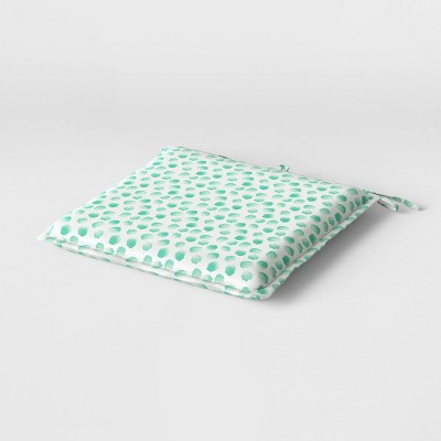 "19"" x 19"" Cushion Seat Pad DuraSeason Fabric™ Aqua Dots - Opalhouse™"