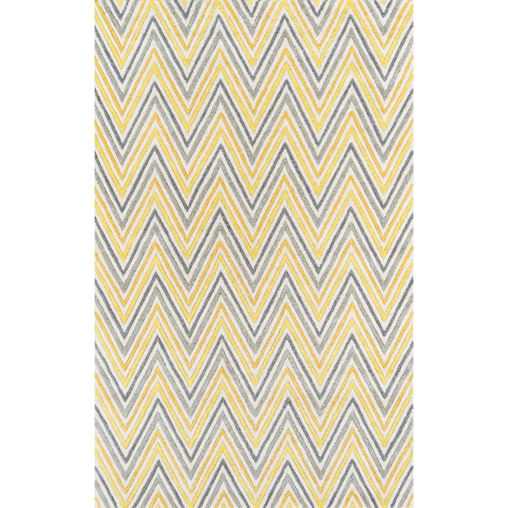 5'X8' Zig Zag Area Rug Yellow