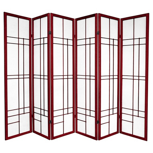 6 ft. Tall Eudes Shoji Screen - Rosewood (6 Panels) - image 1 of 1