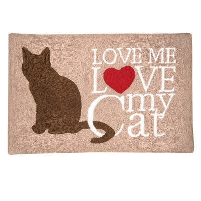"""1'10""""x2'10"""" Rectangle Cat Accent Rug Brown - C&F Home"""
